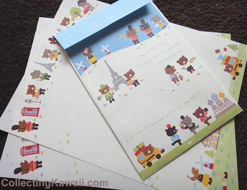Travel Bears Letter Set 1