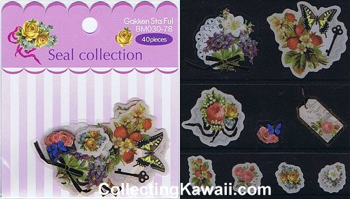 Flowers & Butterflies Sticker Flakes